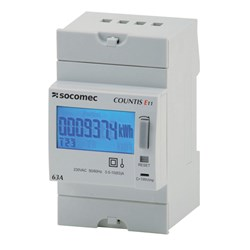 COUNTIS E10 KWH METER, 1P, 63A DIRECT CONNECT, 230VAC, PULSE OUTPUT, 3 MODULES