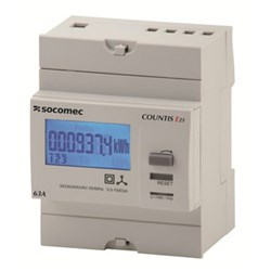 COUNTIS E20 KWH METER, 3P, 63A DIRECT CONNECT, PULSE OUTPUT, 4 MODULES