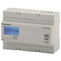 COUNTIS E30 KWH METER, 3P,100A DIRECT CONNECT, 400V AC, PULSE OUTPUT, 7 MODULES