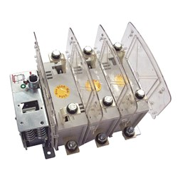 FUSE SWITCH 250A 3 POLE PANEL MOUNT. COMES WITH HANDLE/SHAFT & PHASE BARRIERS. USE TF FUSE