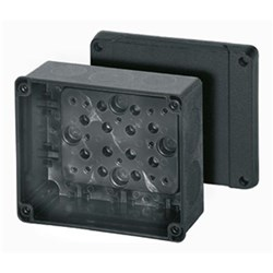 CABLE JUNCTION BOX 119X139X70 BLACK RAL9011, PLAIN WALLS IP66/67, OFFSHORE, KD4060